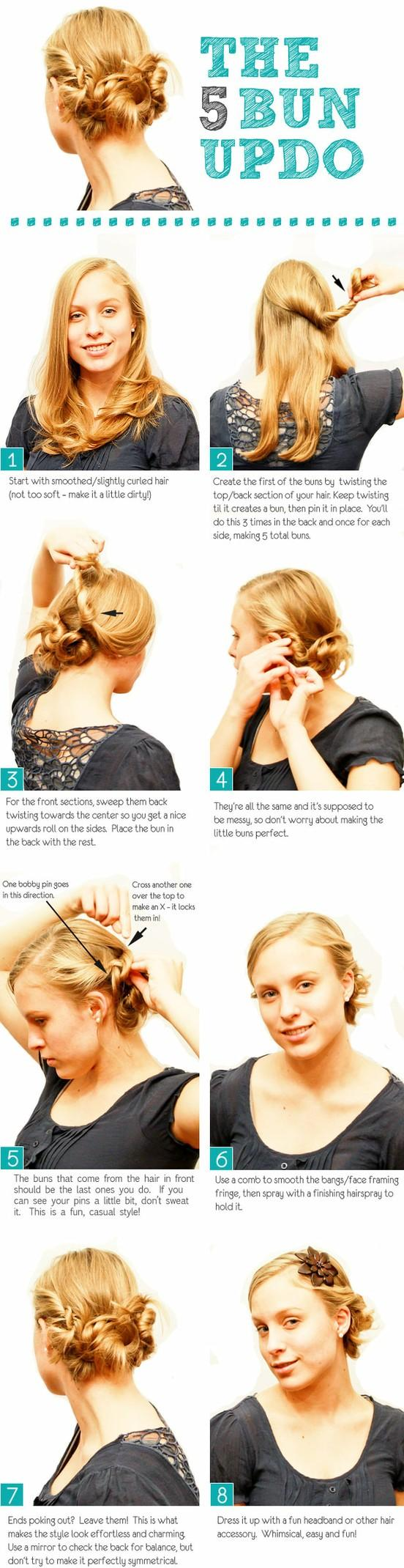 Bun Updo Tutorial Long Hairstyles How To