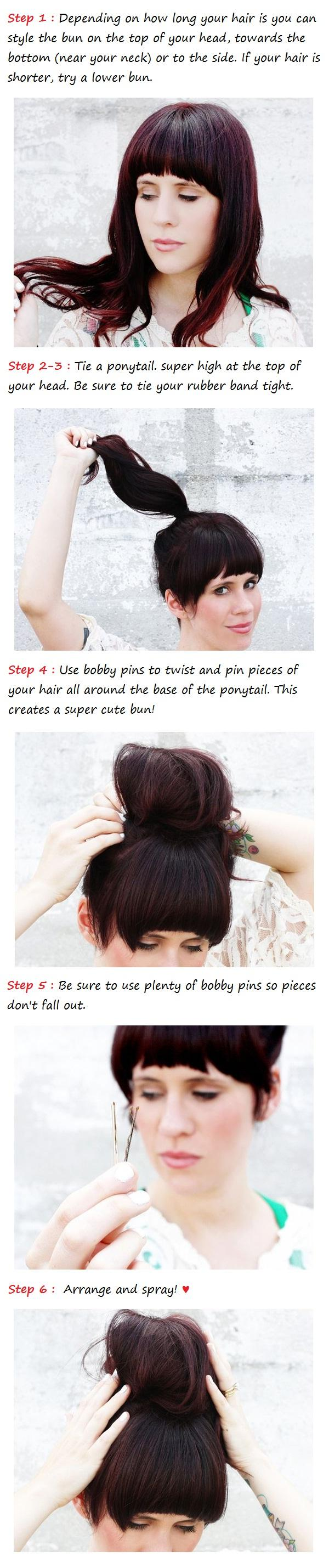 Messy bun tutorial long hair image collections any tutorial examples messy bun tutorial long hairstyles how to messy bun tutorial baditri image collections baditri Gallery