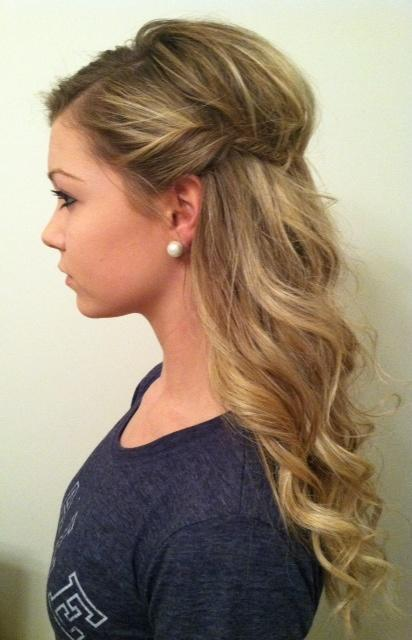 wavy curls with side twist – Long Hairstyles How To