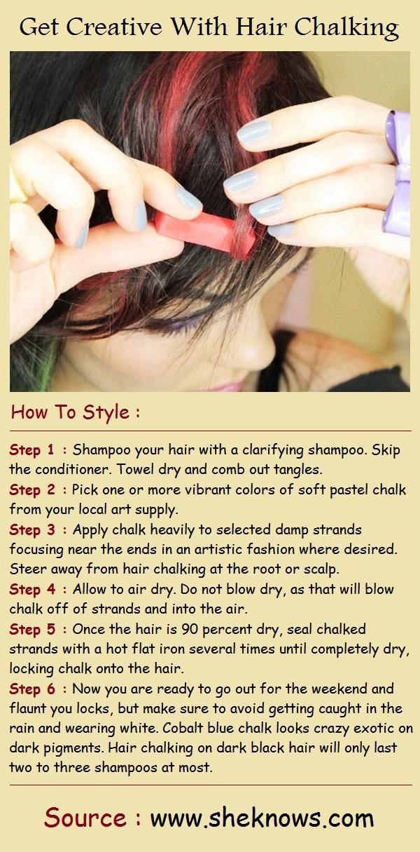 Get Creative With Hair Chalking