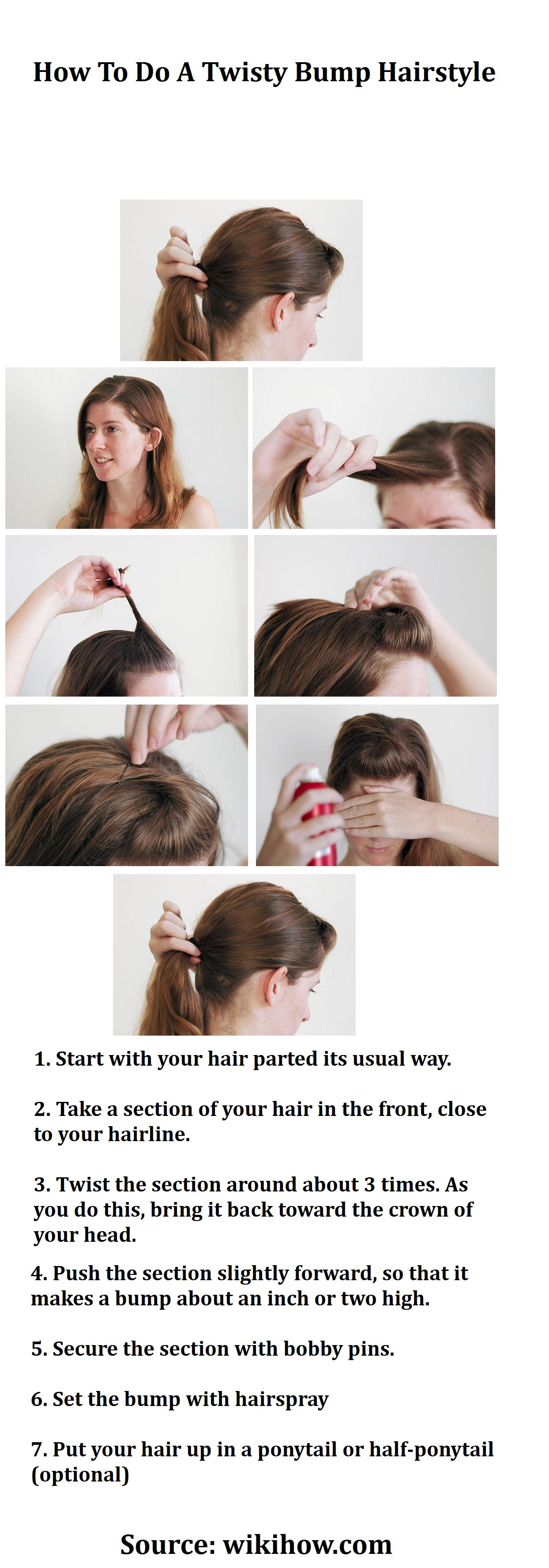 How To Do A Twisty Bump Hairstyle