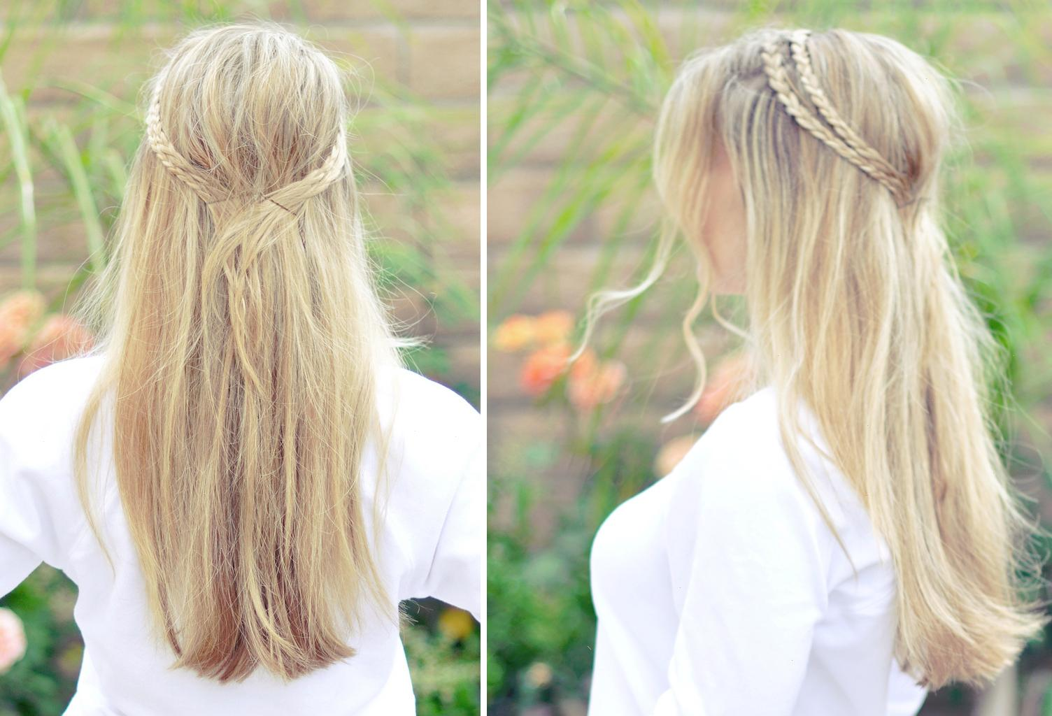 messy rope braid � long hairstyles how to