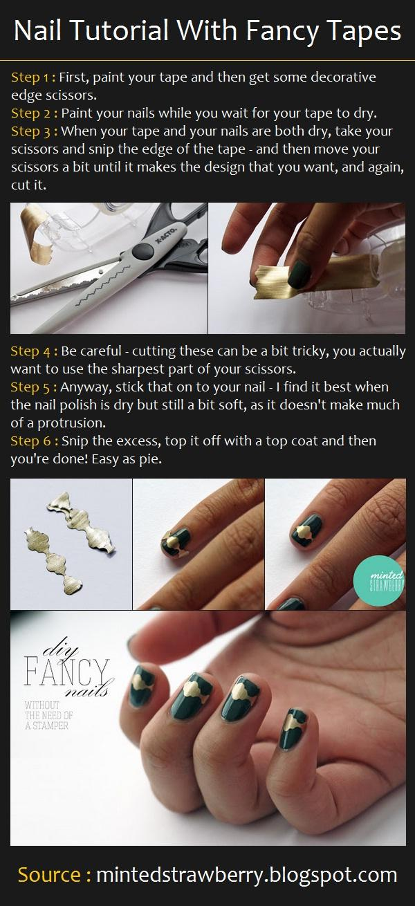Nail Tutorial With Fancy Tapes – Long Hairstyles How To