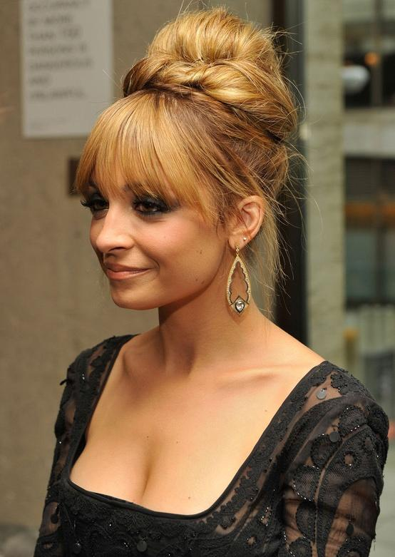 Nicole Richie Long Hair Updo With A Fringe Hairstyles How To