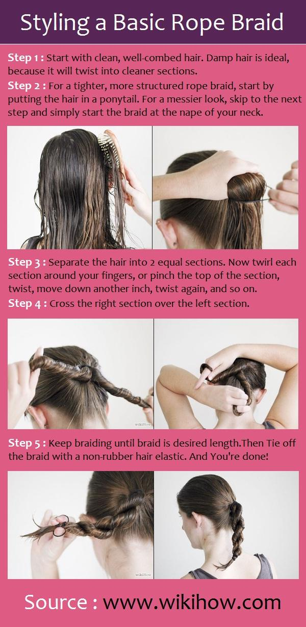 Styling a Basic Rope Braid – Long Hairstyles How To