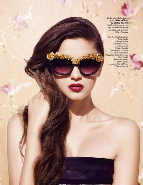 Vogue India September 2012 Long Hairstyle