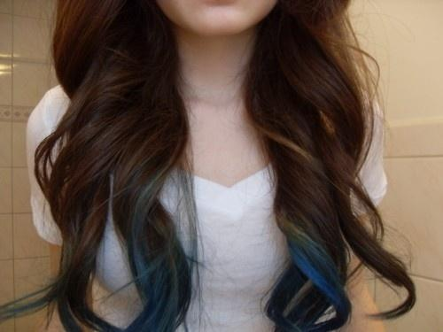 Blue Tips Long Hairstyles How To