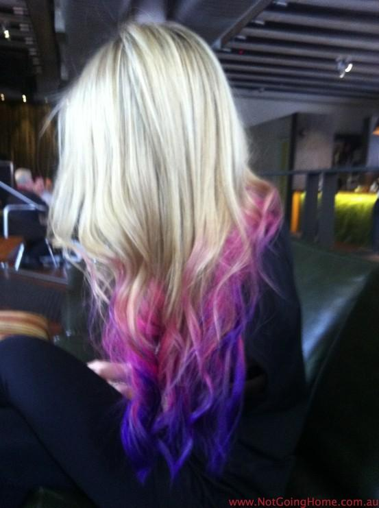 dip dye hair purple and pink - photo #11