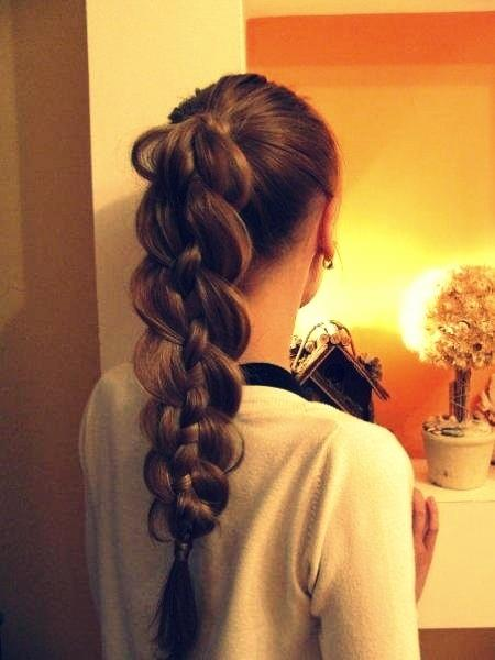 Funky Braided Ponytail Hairstyle Long Hairstyles How To