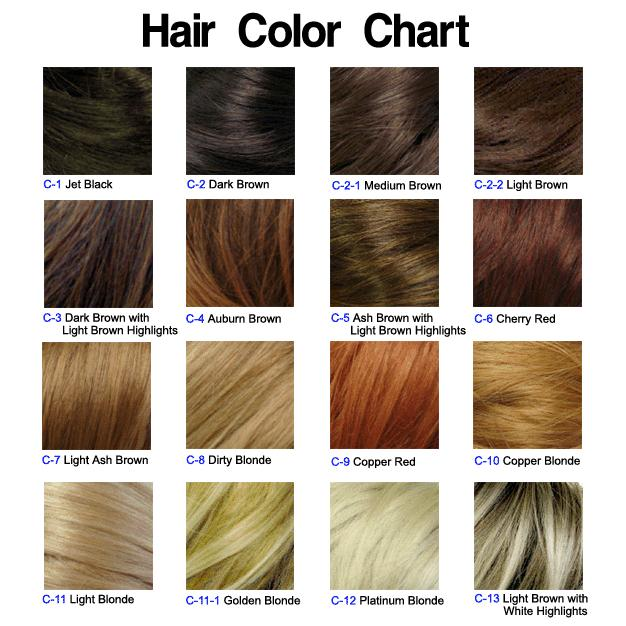 Hair Color Chart  Long Hairstyles How To