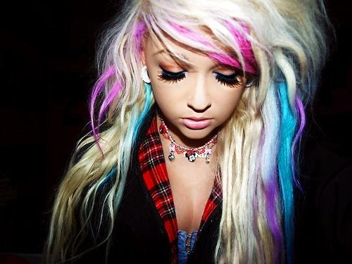Pink Blue Purple Hair Long Hairstyles How To