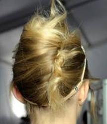 un-tacked french twist