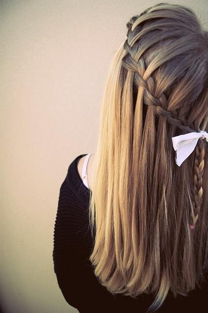 Waterfall Braids Long Hairstyles How To