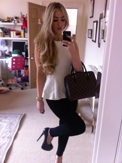 6850facf8914 blonde hair, love the outfit – Long Hairstyles How To