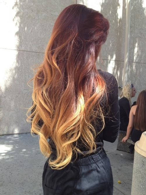 Reverse Ombre Hairstyle Long Hairstyles How To