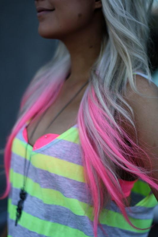 Pink Tips Long Hairstyles How To