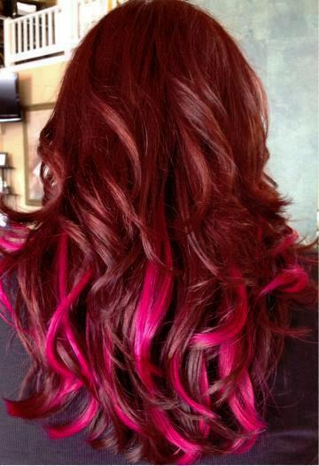 Red Hair With Pink Long Hairstyles How To