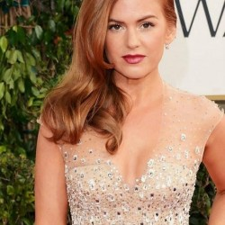Isla Fisher Golden Globes Hair