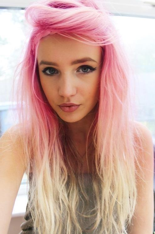 Pink Blonde Ombre Long Hairstyles How To
