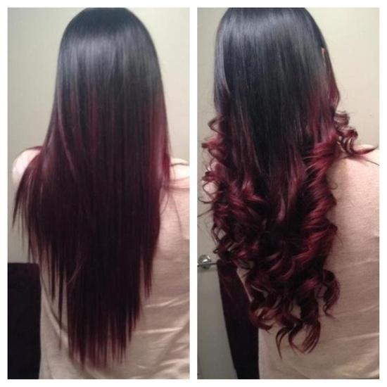 Dark Red Ombre – Long Hairstyles How To
