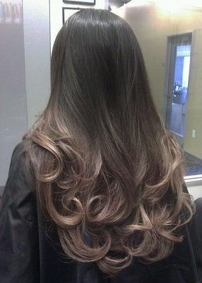 Pearl Ash Ombre Long Hairstyles How To