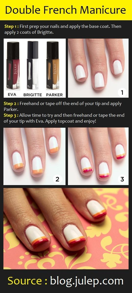 Double French Manicure Tutorial