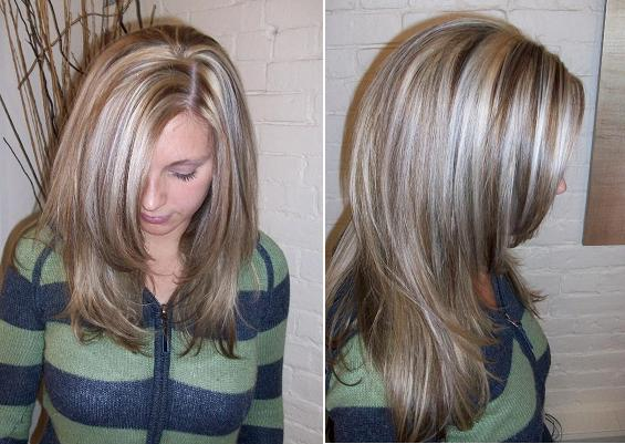Platinum Highlights Lowlights Long Hairstyles How To