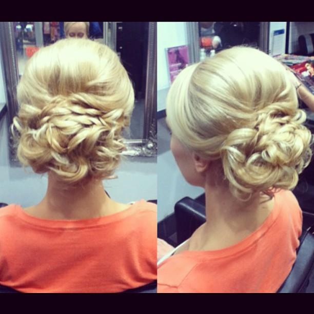 lovely bridal updo
