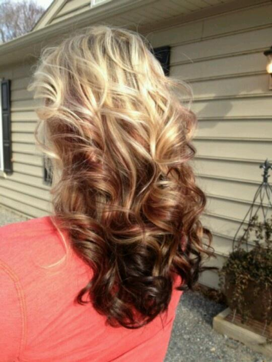 Blonde & Auburn Curls – Long Hairstyles How To