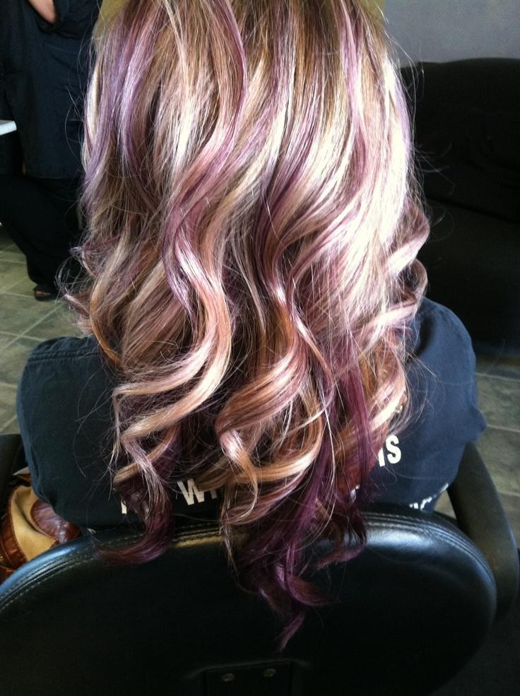 Blonde with purple lowlights. This is awesome